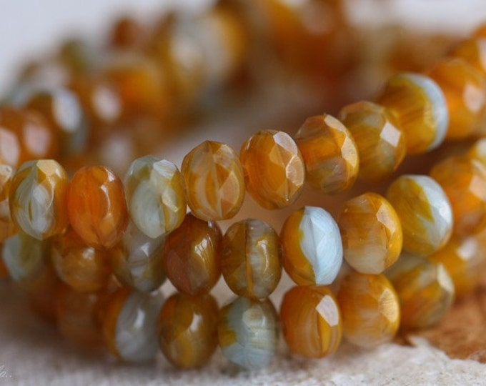 CITRUS ICE BITS .. 30 Premium Czech Faceted Rondelle Beads 3x5mm (B16-st)