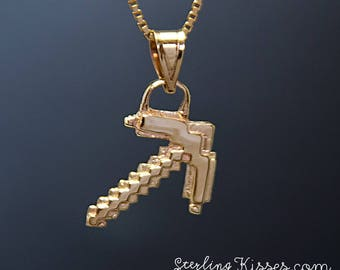 Pickaxe Pendant in 14kt Yellow Gold