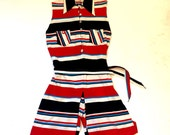 Vintage 1960s Mod Romper | Playsuit | One Piece Short Set