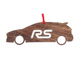 Wooden Ford Focus RS Ornament