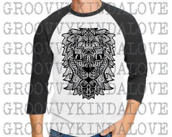 Lion Mandala Design Instant Download for Electronic Cutters silhouette cricut vinyl digital decal hippie boho chic t shirt heat transfer