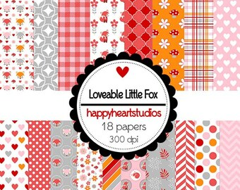 DigitalScrapbooking LoveableLittleFox-InstantDownload