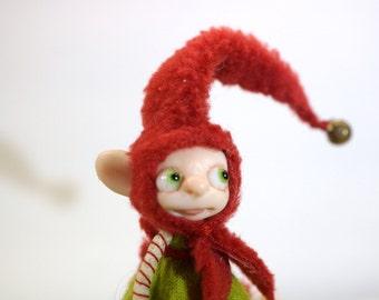 ooak poseable WoodLand ELF PIXIE fairy  ( #12 ) polymer clay art doll by DinkyDarlings   faerie faery angel