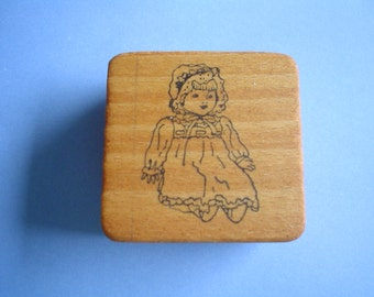 Rubber Stamp -Baby Doll- One Dollar Stamp