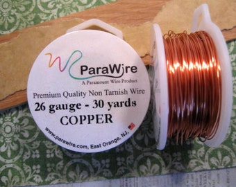 26 Gauge Copper over Copper Core Wire from ParaWire - 30 yard Spool