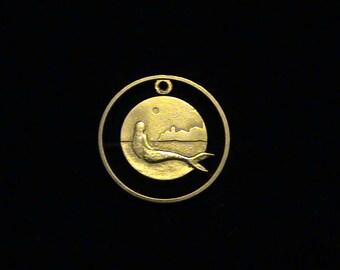 DENMARK - cut coin jewelry - 2005 - Mermaid, City and Moon