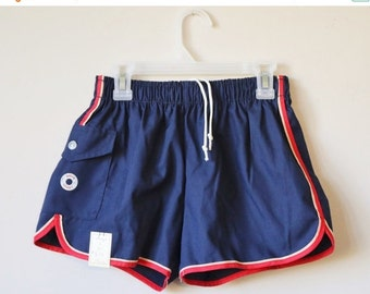 ON SALE Deadstock, 1980s Aqua Sport Shorts >>> Men's Extra Small >>> Boy's Size Large