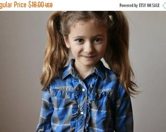 SPRING SALE 1950s Ruffle Western Shirt >>> Size 4t