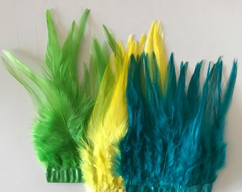 GRAB BAG  Miscellaneous Saddle Feathers  / 07