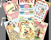 Pyrex Vintage Ads Hang Tag Set-Pyrex Gift Tags-Tag Set of Six