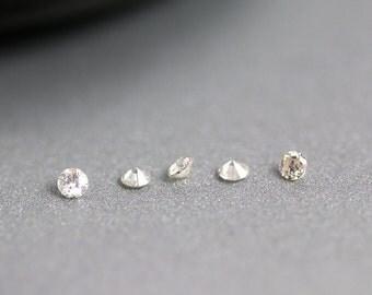 Brilliant Cut Diamond - 2mm - White Diamond - Round Gem