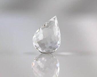 Crystal Quartz Drop - 17mm - Crystal Quartz - Briolette