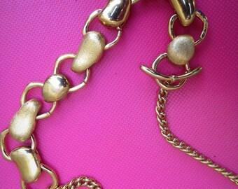 Signed Monet Kidney Bean Necklace