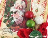 Handmade Vintage Christmas Holiday Card