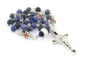 Saint Benedict Anglican Rosary Beads - Protestant, Episcopalian Prayer Beads