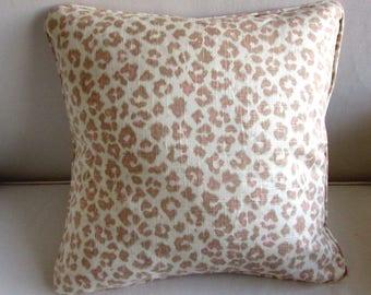 CHEETAH LINEN pillow cover 20x20 in Blush