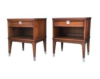 On Hold Mid Century Modern Nightstands End Tables
