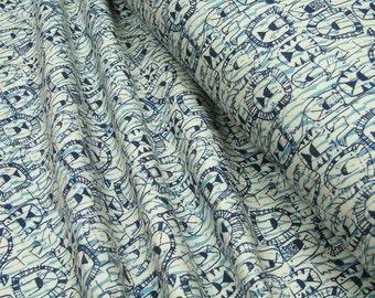 Sweatshirt fleece fabric • blue lions 0.54yd (0,5m) 002829