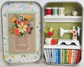 Tiny Tin Sewing Room ~ Live Simply