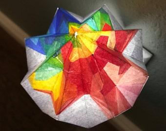 Rainbow Origami Night Light, Children's Night Light, Safety Light, Night Light Lamp, Geometric, Origami, Kids Night Light, LeeMo Designs
