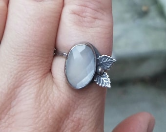 Leaf Peeper Moonstone Ring, Made to Order