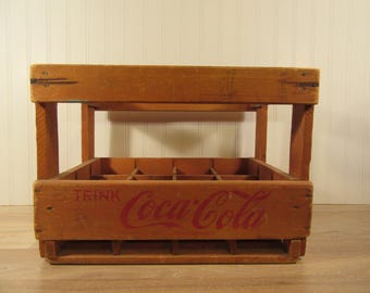 Large old wood Coke/Coca Cola carrier crate from Germany- fine condition, vintage, wood, solid and beautiful