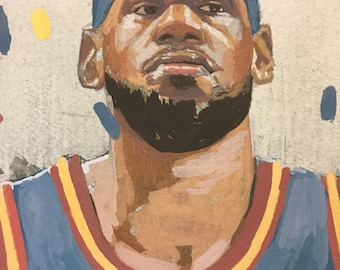 LeBron James- Original Painting // published originally in The Washington Post