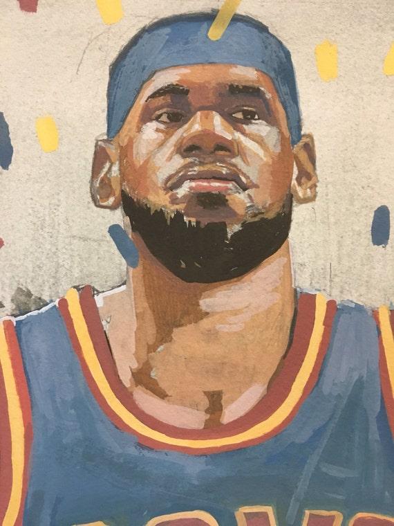 LeBron James- Original Painting // published originally in The Washington Post