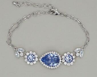 Lavender Bracelet, Bridal Bracelets,Crystal Bracelet, Violet bridesmaids Bracelets, Purple Swarovski Rhinestone Bracelet, Gift for Her