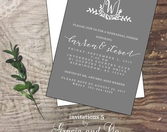 Bridal rehearsal dinner custom handmade cards  invitation wedding shower invite  bride personalized bride shower invitation