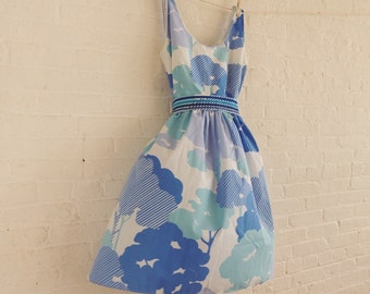 Tea dress {abstract trees } size 14