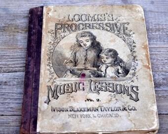 Antique Loomis's Progressive Music Lessons Book No. 2