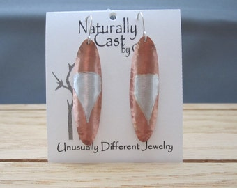 Copper with Sterling Inlay Earrings (SKU E16-74)