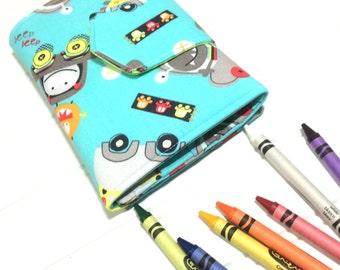 Monster toy | Crayon folio | crayon storage | kids crafts | Wallet | Kids wallet | toddler gift | Birthday gift | Drawing pad | Crayon case