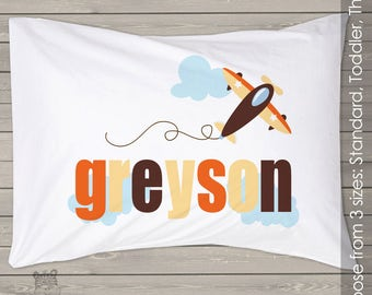 Personalized airplane 3 types of pillow and pillowcase to choose from PIL-067-2