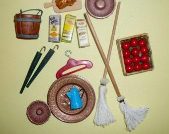 Dollhouse Miniature  Kitchen Accessories Set Collectible Miniature
