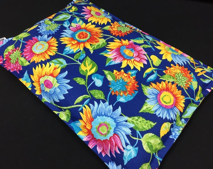 Microwave Heating Pad, Gardener Gift, Heat Pack, Pain Relief, Bed Warmer, Relaxation Gift, Hot Cold Therapy, Large Sunflower Corn Bag