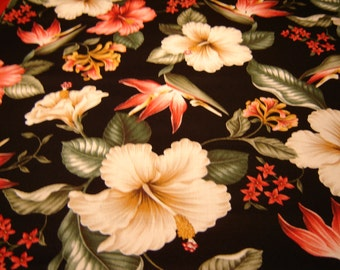 Bark Cloth Reproduction Trendex,  OOP 2003, Hibiscus, Bird Of Paradise, Rare, Nostalgia
