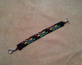 Stairway Basket Weave design. Reggae colors. Irie. Yurok.Hupa.