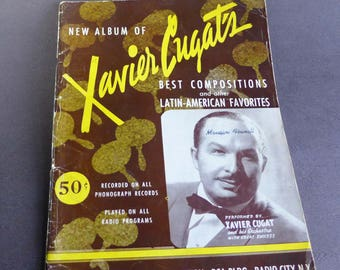 New Album of Xavier Cugat's Best Compositions and other Latin-American Favorites, 1941 Latin Songs Sheet Music Cuba Mexico Argentina