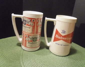Two Vintage Budweiser Mugs The King Of Beer