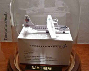 Cargo Plane C-130 Business Card Sculpture Design 1499  -or any figure, hobby, sport or Profession