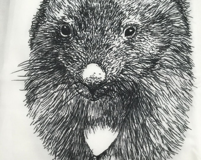 """Wild Wombats  fabric collection by Cindy Watkins """"On the move"""" Back & White original design"""
