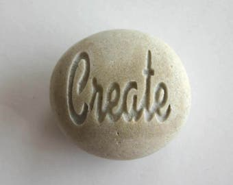 Create Engraved Grey Stone Inspirational Stone