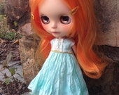 Atomic Blythe Silk SwooN Party Dress for Blythe