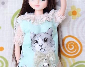 Blythe kitty pattern dress