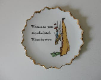 VINTAGE humorous foul language PLATE wall hanging