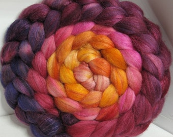 Merino/Baby Camel/Tussah 60/20/20 Roving Combed Top - 5oz - Volcanic Orchid 1