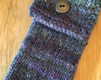 Hand Knit iPhone Pouch/Eyeglasses Case
