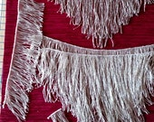Big V set of Pre Beaded Silver Glass Fringe, 4 pieces, Belly Dance, Tribal, Dance, Costume, Steampunk